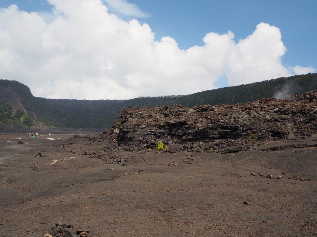 Wanderung durch den Krater