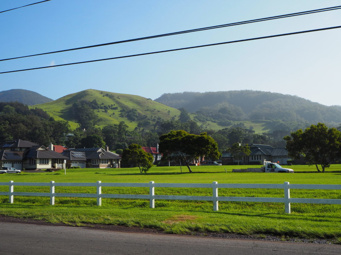 Der schöne Ort Waimea auf Big Island