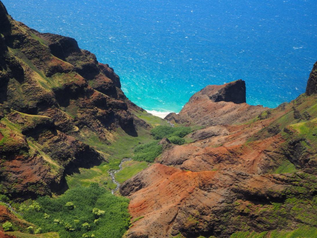 Fantastischer Ausblick auf Kauai aus dem Helikopter