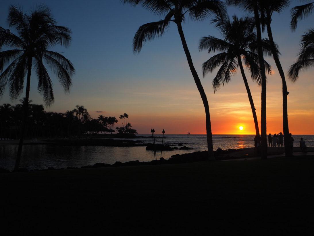 Letzter Sonnenuntergang auf Hawaii