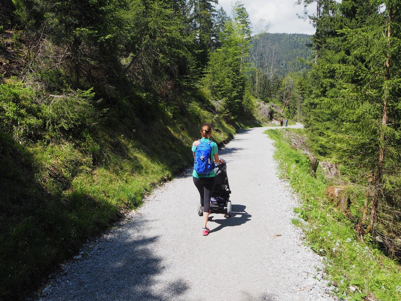 Eibsee Wanderung mit dem Kinderwagen